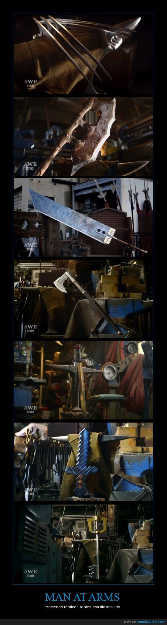 Adventure Time - Finn's swords,aptas,FF VII - Buster Sword,Gimli's Bearded Axe - Lord of the Rings,Kingdom Hearts - Sora's Keyblade,Man at arms,Minecraft Sword,niños,No,para,Skyrim - Orcish Battleaxe,Tony Swatton,Wolverine blade