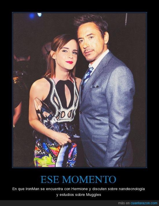 Emma Watson,Harry Potter,Iron Man,Robert Downey Jr