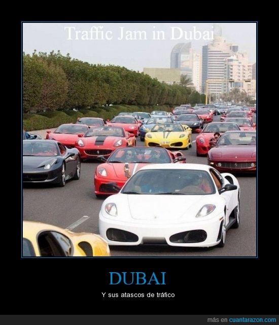 coches de lujo,Dubai,tráfico