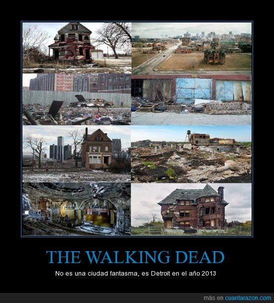 90% de negros,abandonos,bancarrota,ciudad,detroit,walking dead