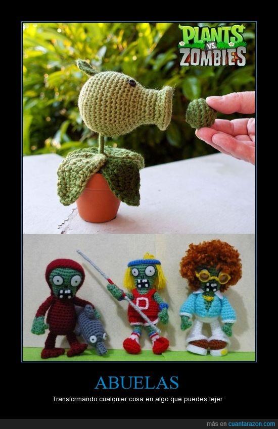 abuelas,plants vs zombies,tejido