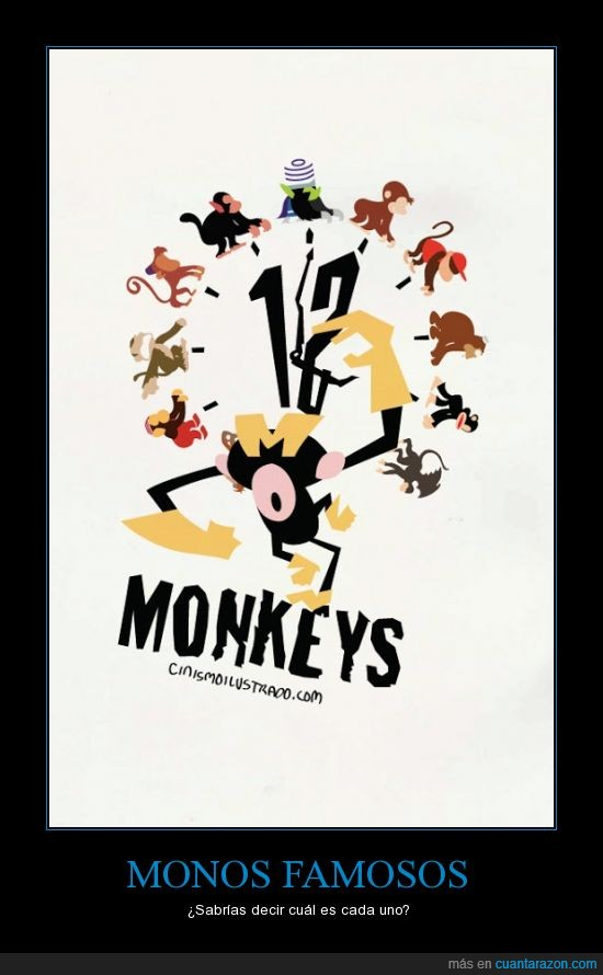 12,12 monos,adivina,dibujos,famosos