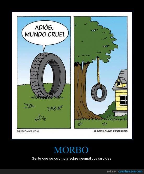 árbol,neumático,rueda,suicidar
