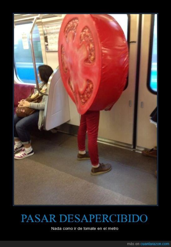 disfraz,ensalada,metro,rojo,tomate,tren,what