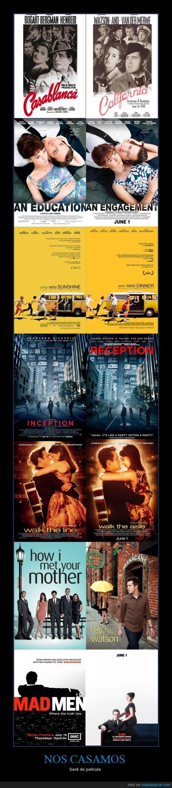 adaptar series favoritas,divertido,invitaciones,pareja,película