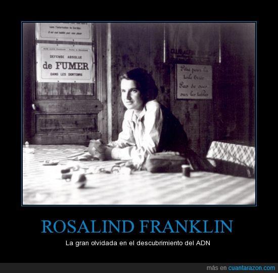 adn,descubrimiento,franklin,olvidada,Rosalind