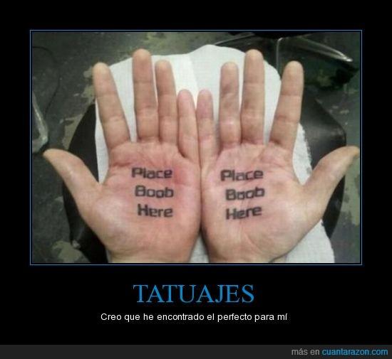 aquí,mano,pecho,Tatuajes