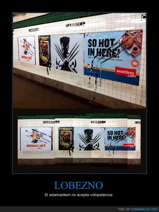 publicidad,vandalismo,wolverine