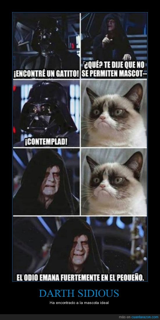 darth sidious,darth vader,grumpy cat,senador palpatine,star wars