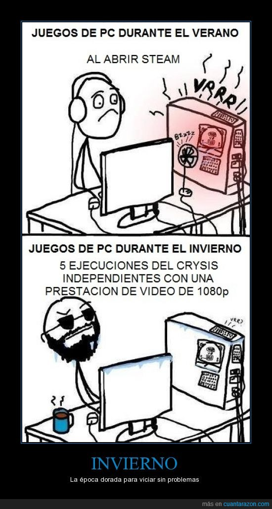 demasiado calor,fail la refrigeracion,invierno,lol,pc gamer