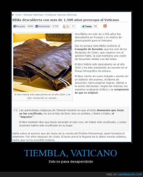 antiguo,biblia,falsedad,hola mamá,islam,jesus,religion,tu mamá en bragas,vaticano