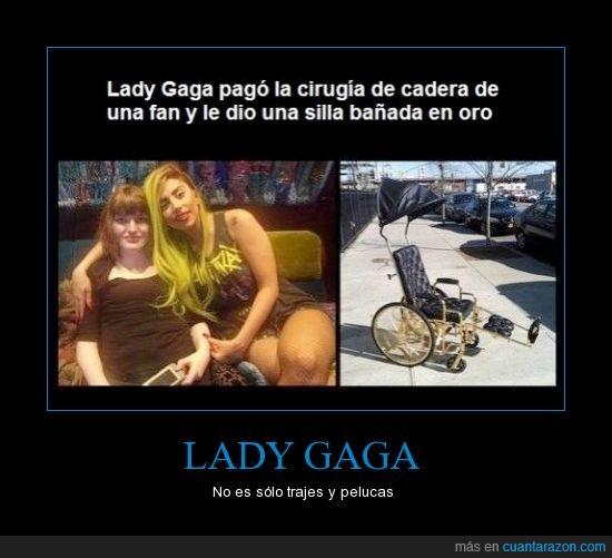 fan,Lady gaga,oro,silla de ruedas