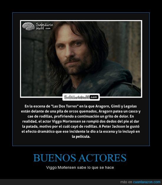 Aragorn,dos torres,ESDLA,qué dolor!!,romper dedos,TLOTR