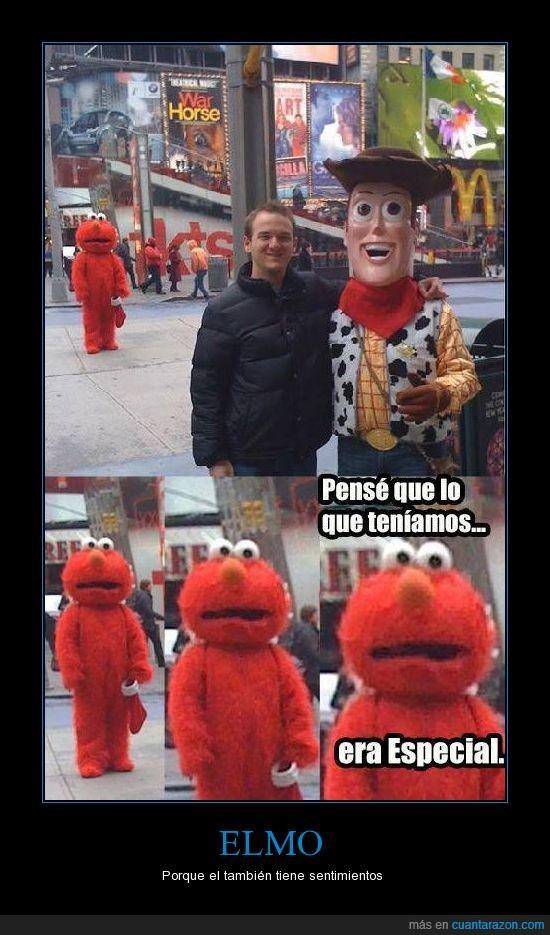 cuernos,Elmo,figura,friendzone,sorpresa,toy story,triste,woody