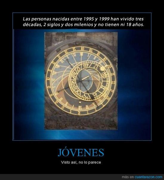 decadas,jovenes,milenios,siglos