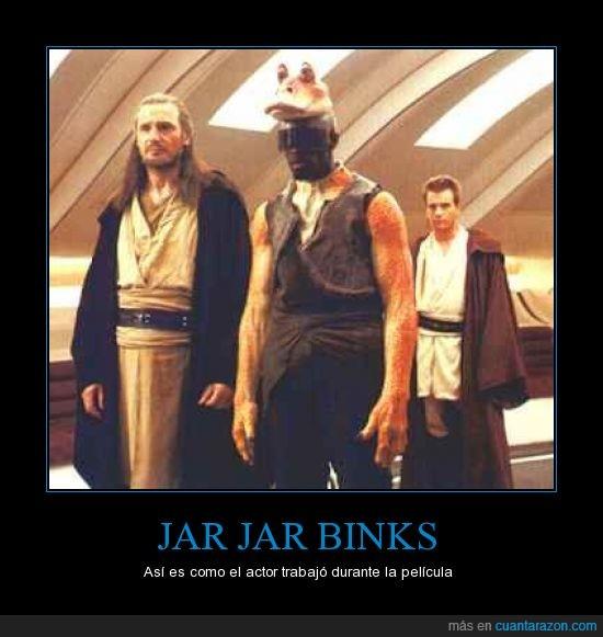 actor,ahora disney,anakin,george lucas,jar jar binks,lucasarts,lucasfilms,obi wan,realidad,skywalker,star wars