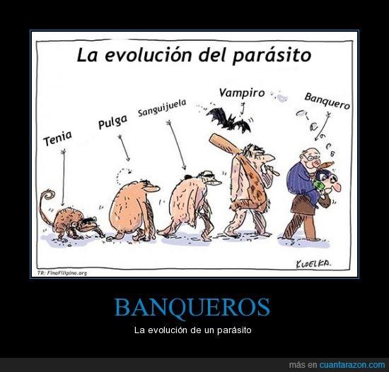 banquero,evolucion,parasito