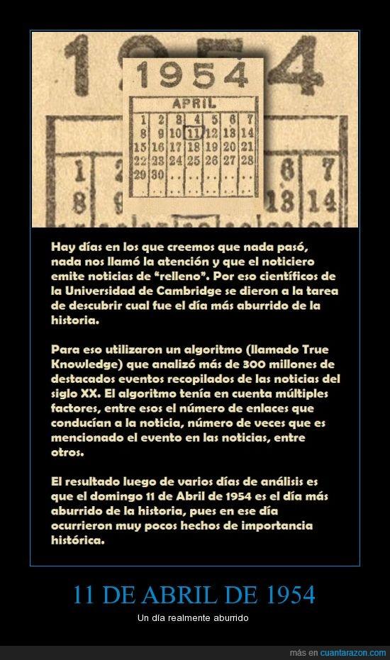 11 de Abril de 1954,Aburrido,algoritmo,noticias