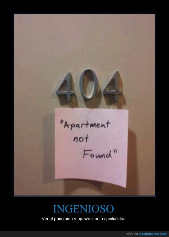apartamento,error 404,Ingenioso,panorama