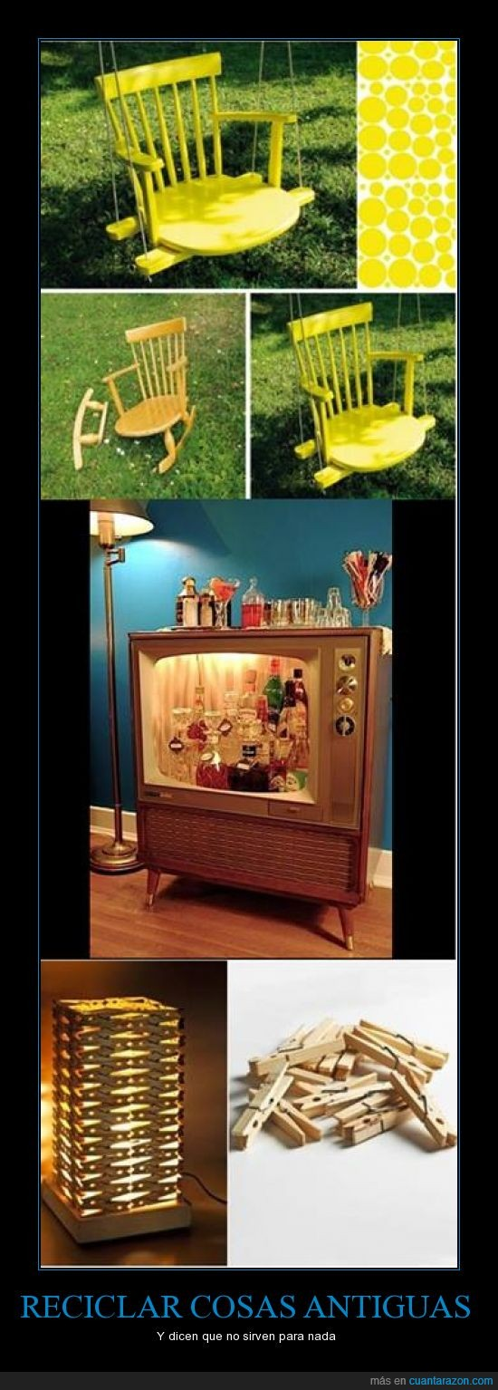 antiguas,columpio,cosas,lampara,mueble,pinza,sila,televisor