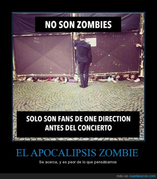 fans,one direction,pronto,SOS,zombies
