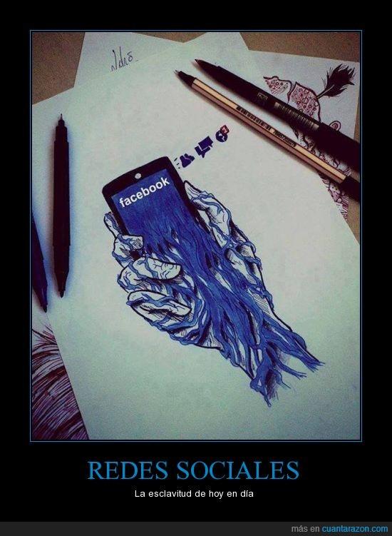 esclavitud,Facebook,smartphone,telefono,tinta