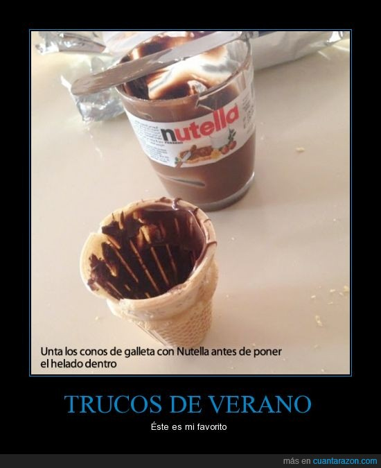 chocolate,dentro,galleta,helado,nutella,untar