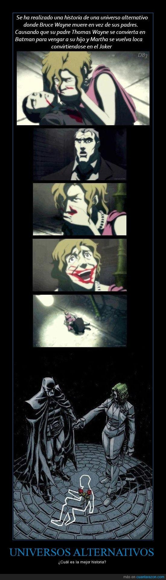Batman,Bruce Wayne,hijo,huerfano,Joker,loca,locura,matar,padres