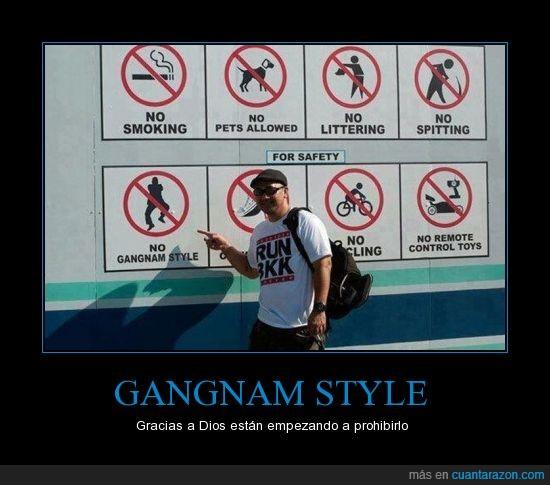 carteles,Gangnam Style,psy,seguridad
