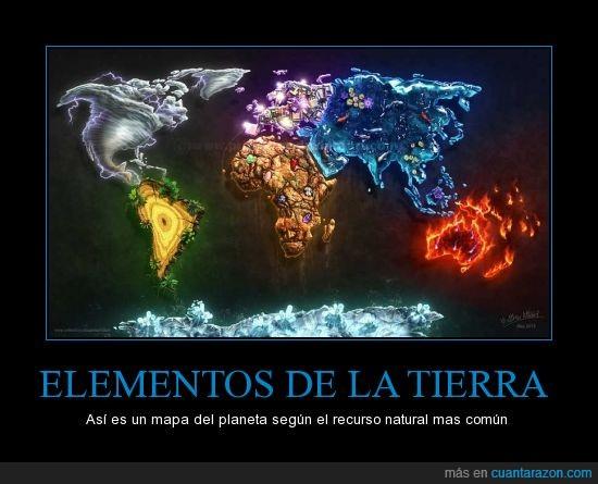 continentes,elementos,recursos naturales