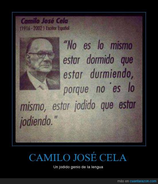Camilo José Cela,No es lo mismo,Tenía razón