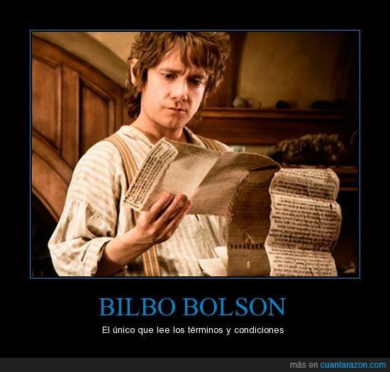 LEL,términos de uso,The Hobbit