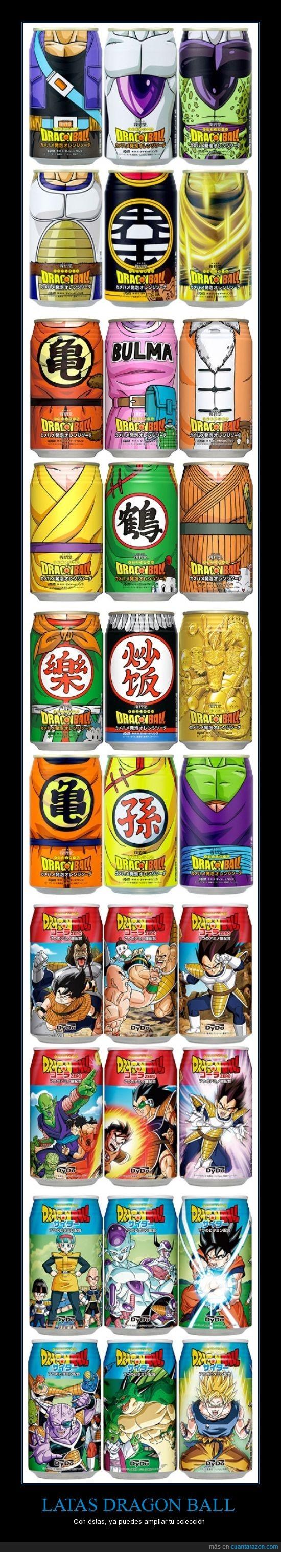 bebida,dragon ball,japón,latas