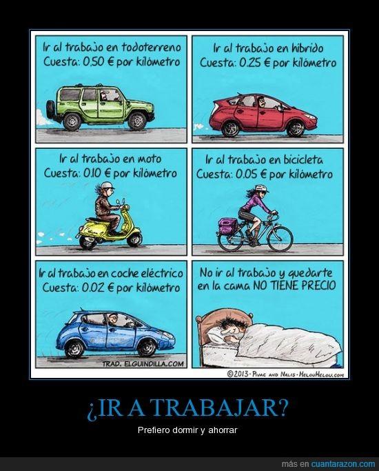 bici,cama,coche,coste,dormir,moto,trabajo