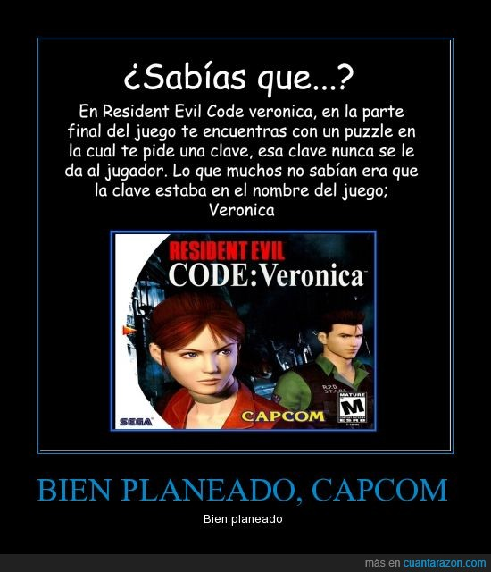 capcom,Code: Veronica,Juego,Resident Evil,sega,videojuegos