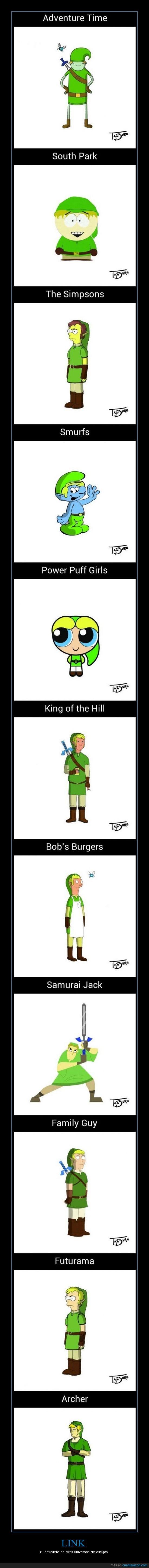 adventure time,Archer,bob's burgers,Family guy,Futurama,hora de aventuras,king of the hill,Link,los pitufos,los simpsons,padre de familia,powerpuff girls,reyes de la colina,samurai jack,smurfs,south park,videojuegos,zelda