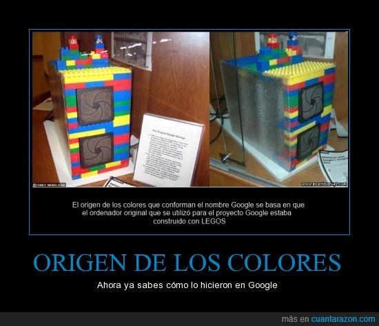 color,el origen de un imperio,Google,lego,ordenador,servidor,tesis