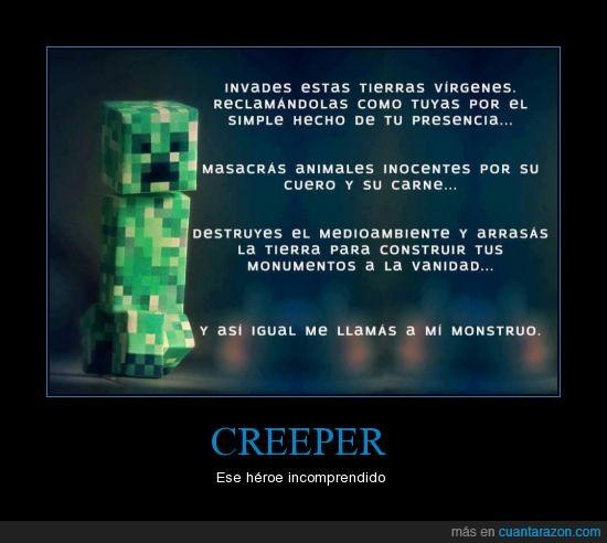 Creeper,Heroe,humanos,K,karma,minecraft