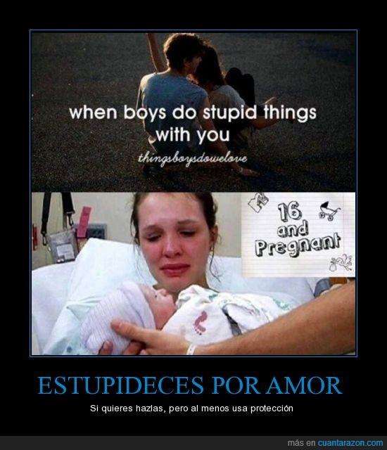 adolescentes,amor,bebe,condon,embarazo,estupidez