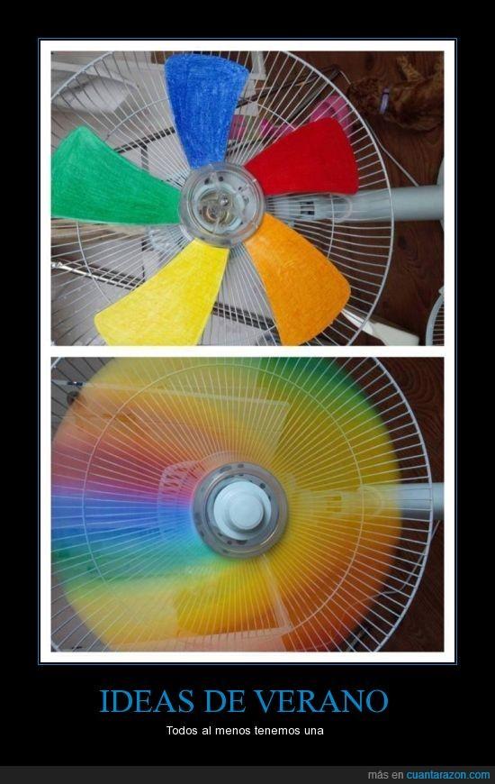 arcoiris,colores,haspa,pintar,ventilador