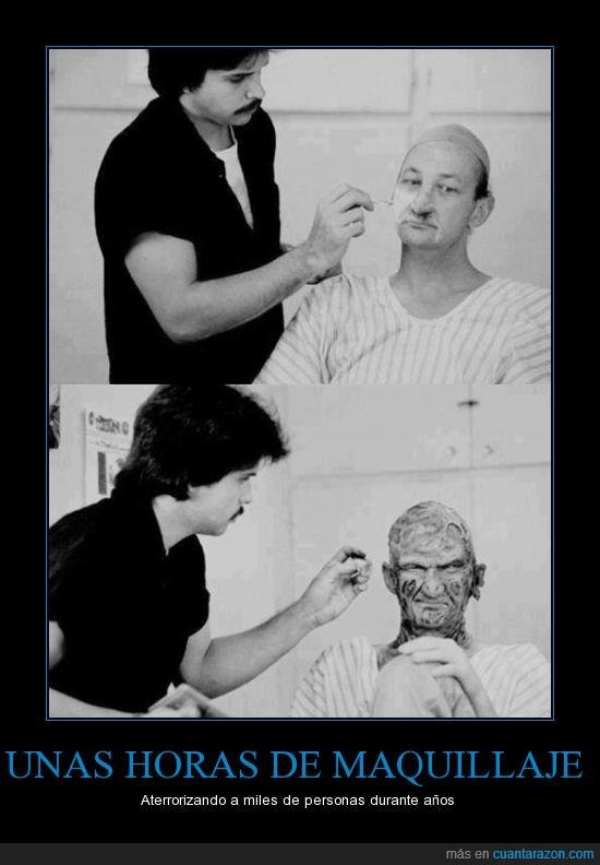 Freddy Krueger,Maquillaje,terror,traumas