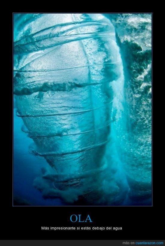 agua,debajo,foto,impresionante,ola,remolino,torbellino