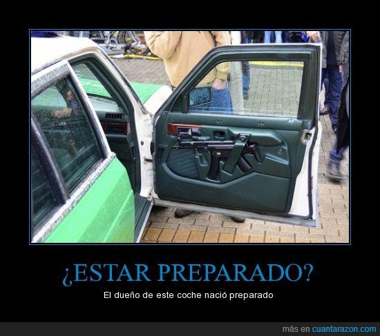 ak 47,arma,coche,preparado,puerta,saber,tío