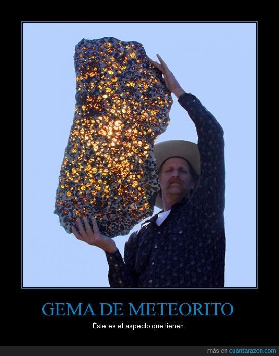 curiosidad,gema,meteorito