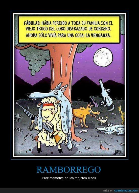 borrego,lobos,rambo,venganza