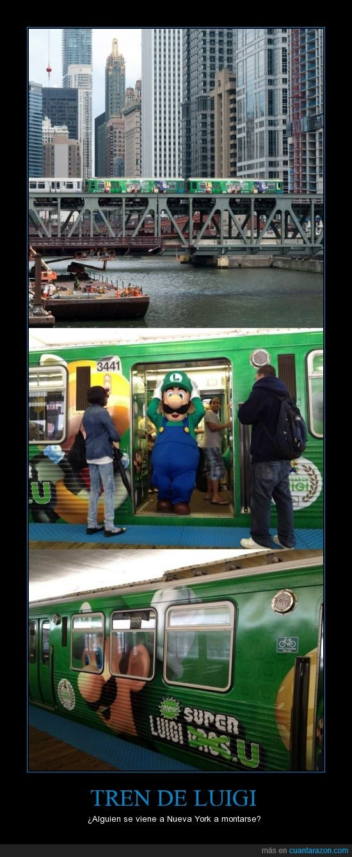 luigi,mario,ny,tren,videojuegos