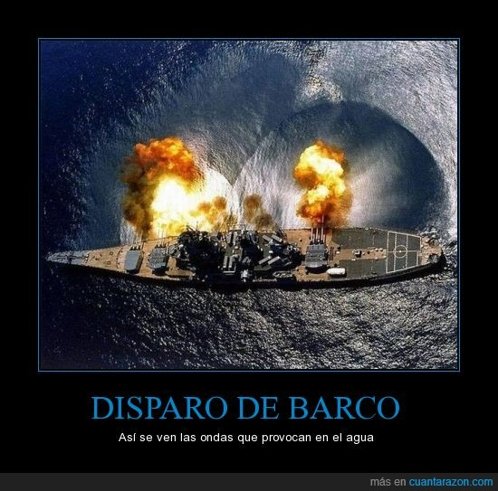 Barco,cañon,disparos,guerra,ondas,visión aereas