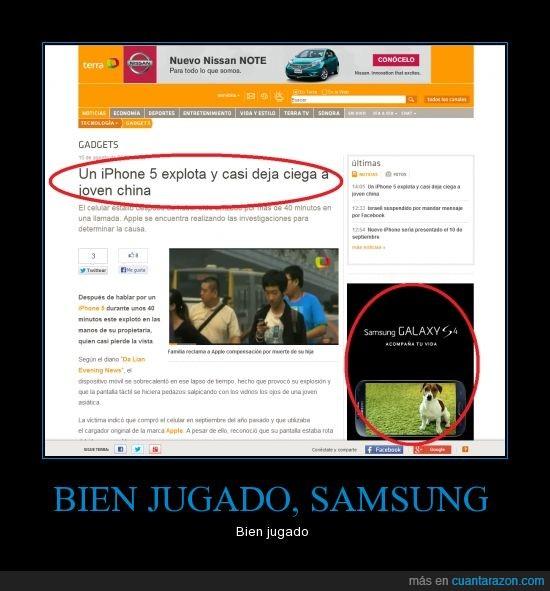 cara,China,explota,Iphone,Samsung