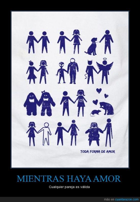 alien,alta,amor,bajito,gorda,hombrem mujer,pareja