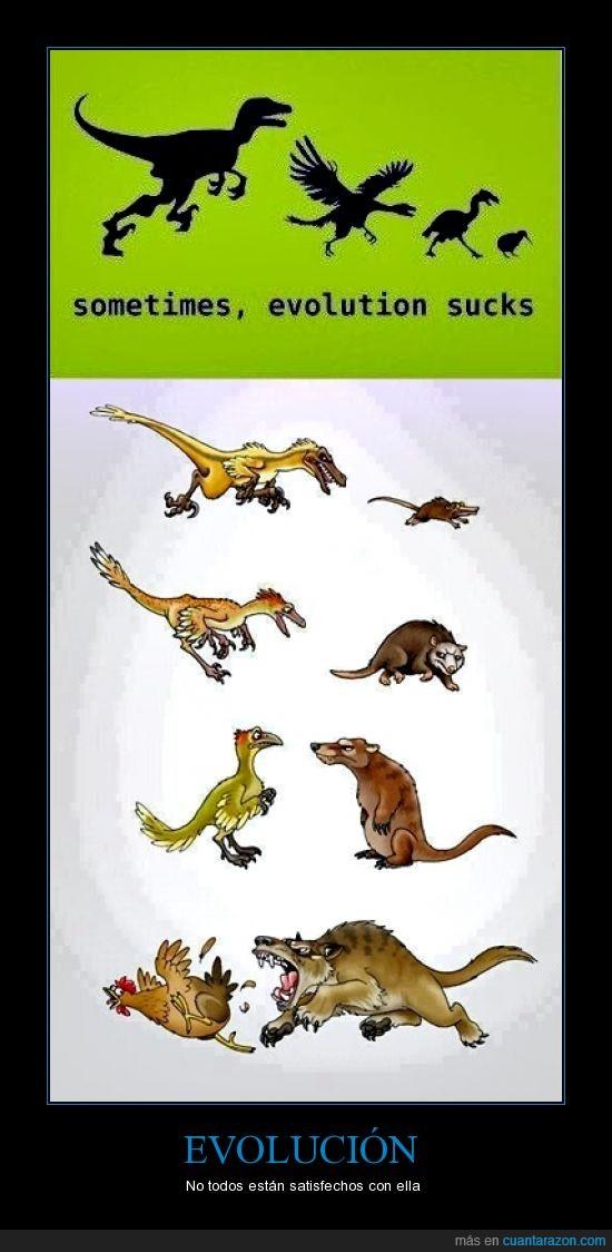 Evolución,Evolution Sucks,fail,insatisfacción,quiero desevolucionar